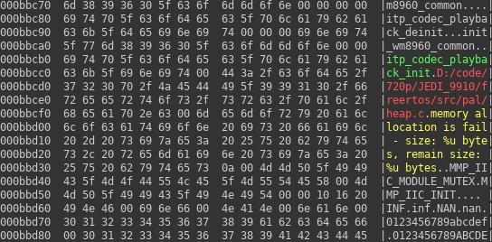 LKV373A Encoder firmware - data region