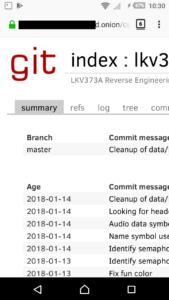 cgit via Tor hidden service