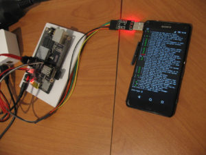 Sony Z3C plugged to Cubieboard2 via UART