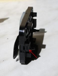 Peugeot 407 rain sensor latch